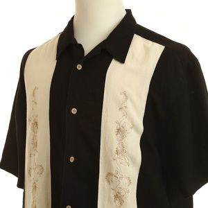 Cubavera Linen Blend Embroidered Shirt